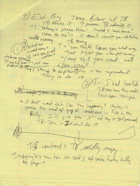 escribir-guiones-a-mano-borrado-de-Los-Soprano-01 Por qué deberías escribir los guiones a mano