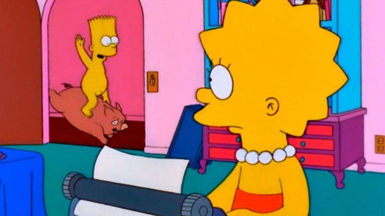 Los Simpsons Lisa escribiendo