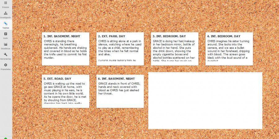 Escribir-guiones-con-Kit-Scenarist-TABLERO Escribe guiones con Kit Scenarist