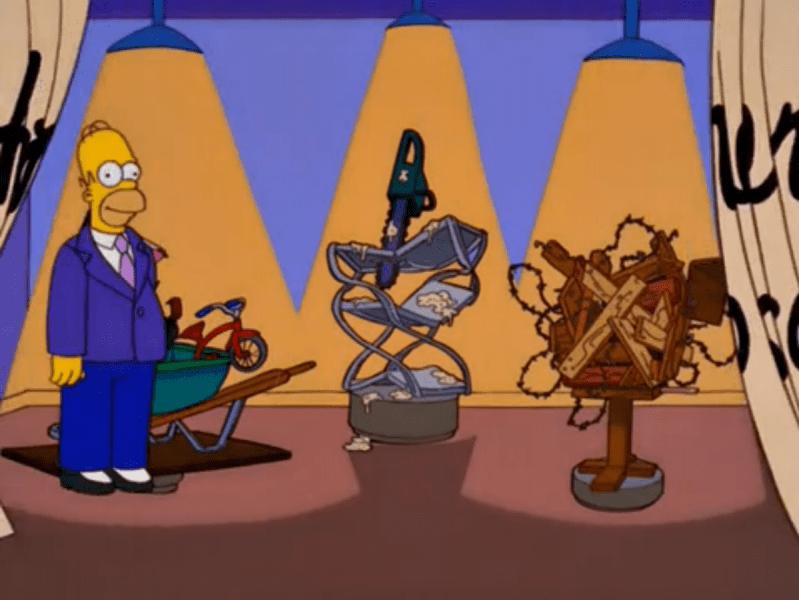 Homer-artista-conceptual-799x600 La receta de Los Simpson: la realidad flexible